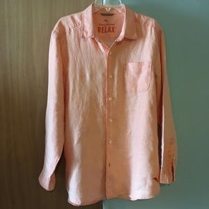 Tommy Bahama 100% linen shirt
